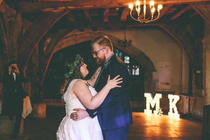 York Wedding first dance By Emma Boileau Photography at Merchant Adventure's Hall.