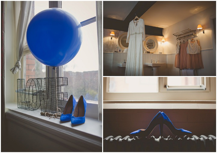 Wedding at Great John Street in Manchester dress and shoes By Lottie Elizabeth Photography