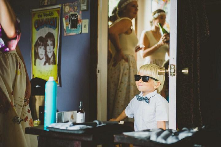 Bohemain Backyard Wedding children By K Good Photo