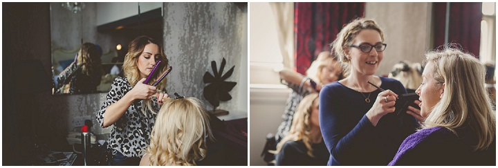 Wedding at Great John Street in Manchester bridal preps By Lottie Elizabeth Photography