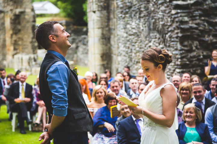 Rory and Angharad's Handmade Bright Blue and Yellow Wedding by Photography 34