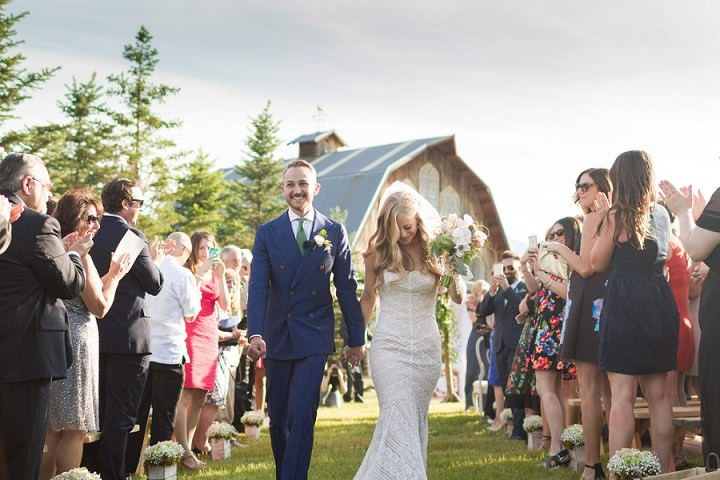Courtney and Evan's Boho Chic Barn Wedding in Colorado by Matthew Irving