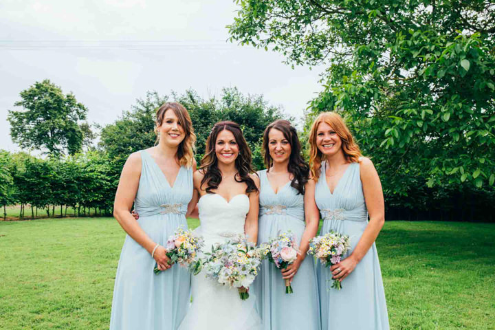 Hannah and Brad's Pretty Pastel Country Barn Wedding by Emily Tyler Photography