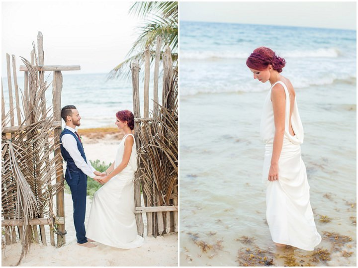 Elodie and Florian\'s Intimate Beach Wedding in Mexico by Kathleen ...