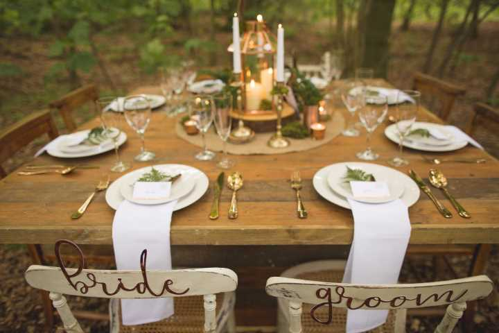 Woodland Luxe Wedding Inspiration by the Rustic Wedding Company