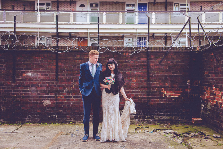 Nat and Jon's Insustrial Glam Two Part London Wedding by Amy and Omid Photography