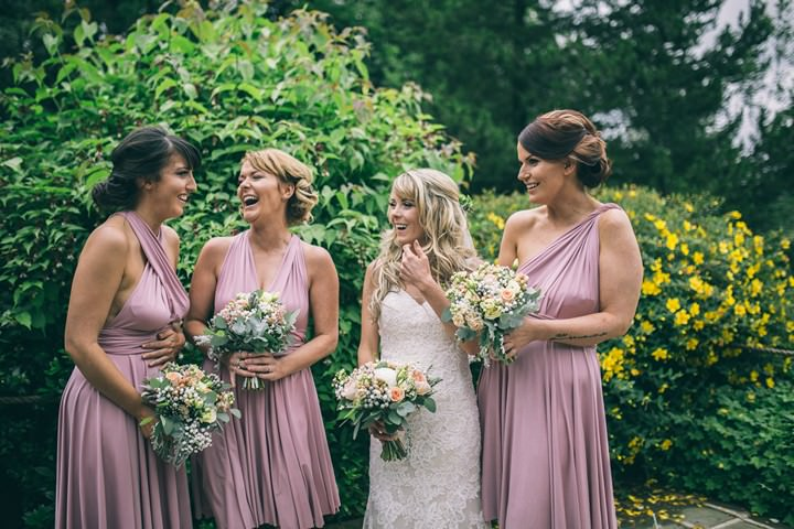 Amy and Tim's Blush and Peach Music Themed Cheshire Wedding by Jess Yarwood