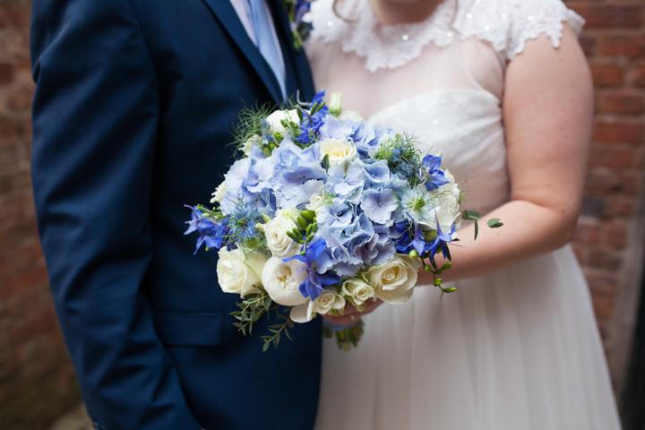 Julia and Jon's Blue and White Mill Wedding by Helen Howard Photography