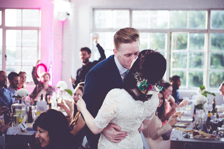 Nat and Jon's Industrial Glam Two Part London Wedding by Amy and Omid Photography