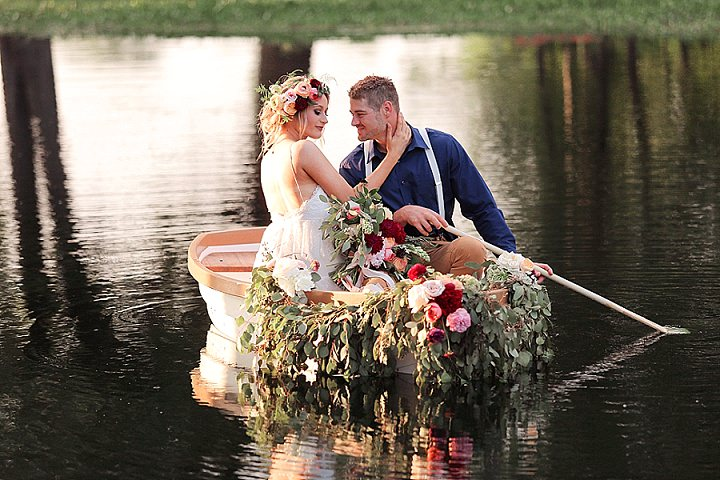 Love on The Water - A Flower Filled Boho Inspiration Shoot