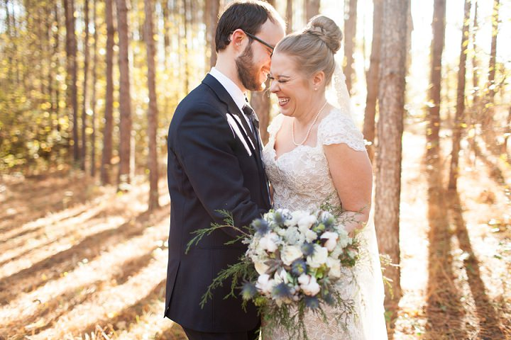 15 Autumn Wedding in the Woods by Leslie West Photo