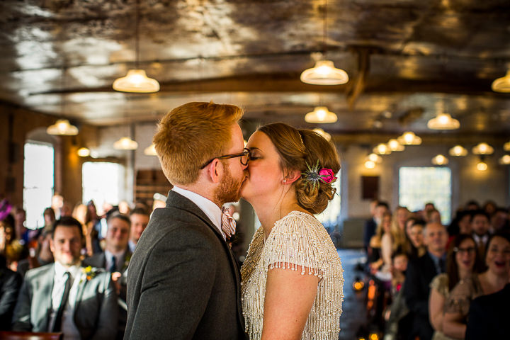 Kate and Robert's Eclectic, Industrial Wedding Full of Bold Patterns and Glitter by Matt Parry