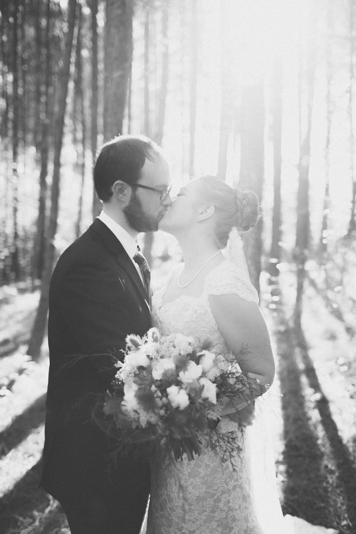 16 Autumn Wedding in the Woods by Leslie West Photo