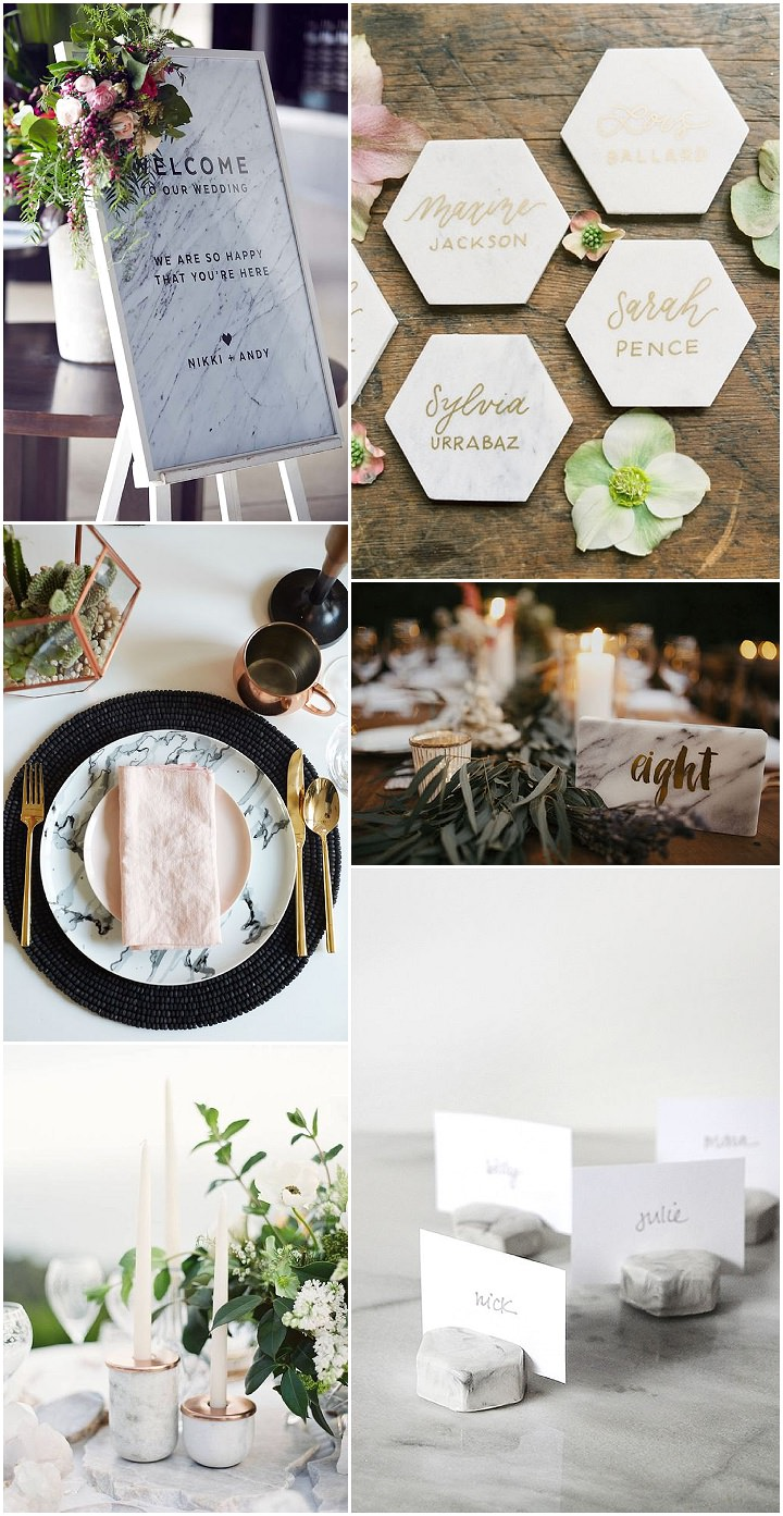 Ideas and Inspiration For Your Marble Themed Wedding - Boho Weddings ...