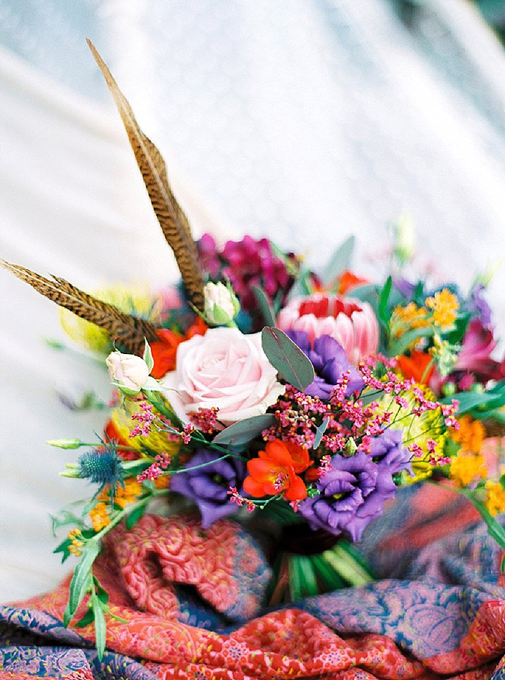 A Festival Inspired Swedish Inspiration Shoot with Feathers and Doughnuts