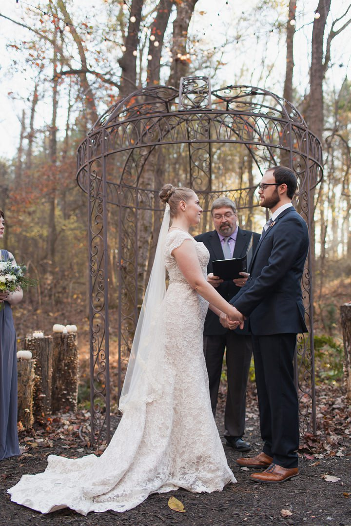21 Autumn Wedding in the Woods by Leslie West Photo