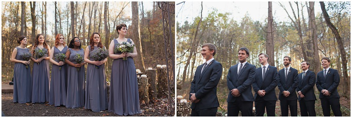 22 Autumn Wedding in the Woods by Leslie West Photo