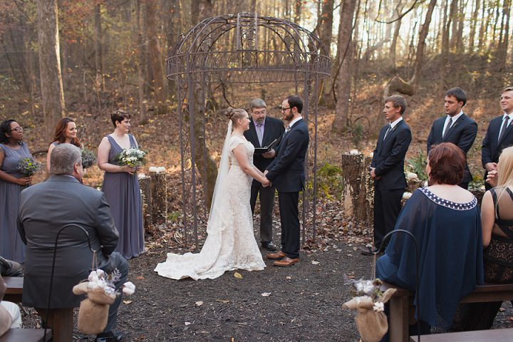 23 Autumn Wedding in the Woods by Leslie West Photo