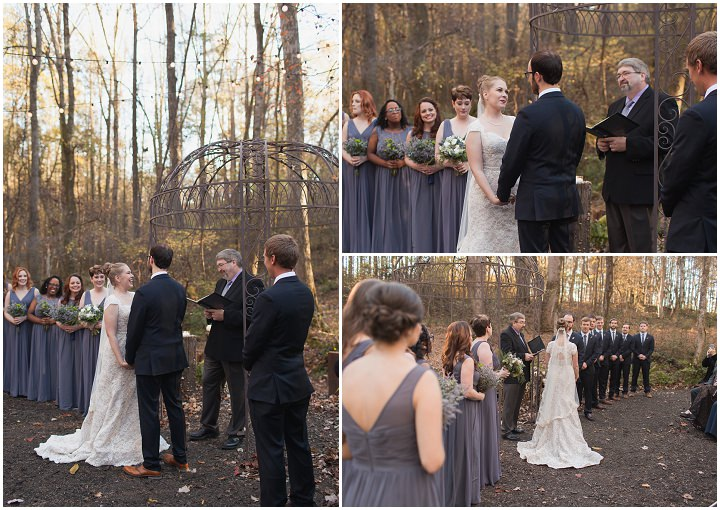 24 Autumn Wedding in the Woods by Leslie West Photo