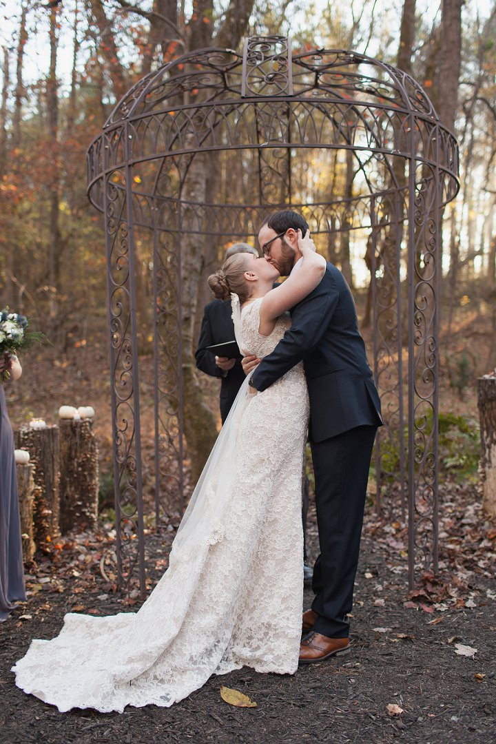 25 Autumn Wedding in the Woods by Leslie West Photo