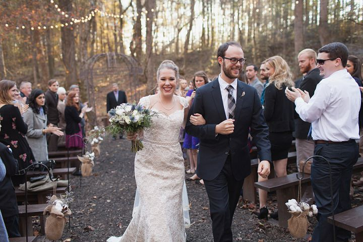 26 Autumn Wedding in the Woods by Leslie West Photo