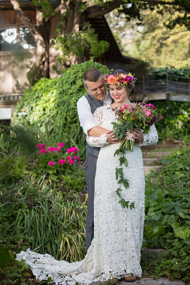 Tropical Bohemian Coastal Wedding Inspiration in Big Sur