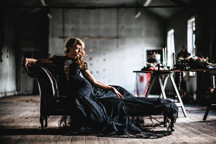 Dark Luxe Inspiration with Glamorous Evening Gowns