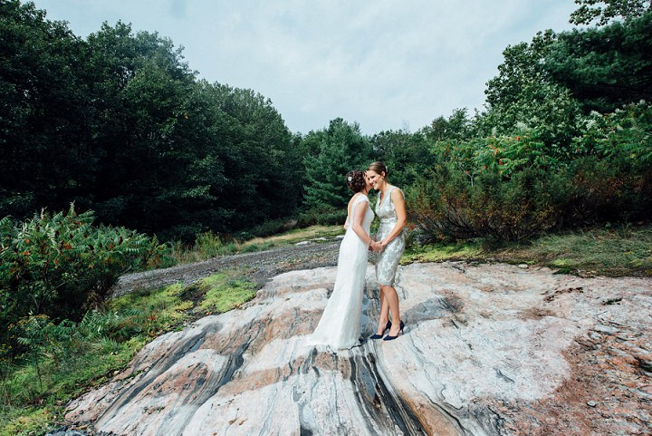 Stephanie and Lauren's Intimate Lakeside Cottage Wedding in Ontario by Boakview Photography