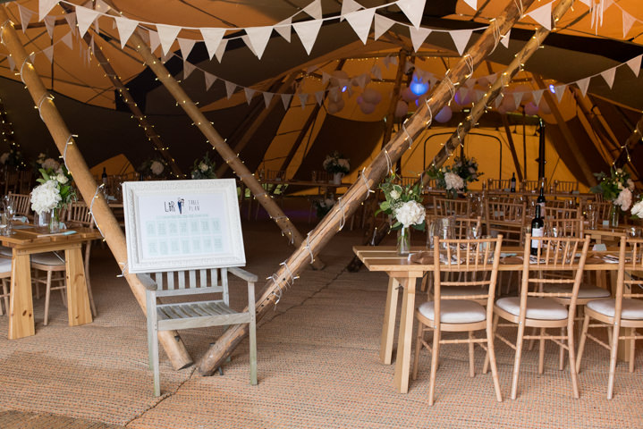 Laura and Richard's Pretty White Nottingham Tipi Wedding by Captured by Katrina