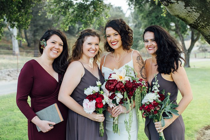 Sydney and Graham's Jewel Toned California Ranch Wedding by Hannah Kate Photography