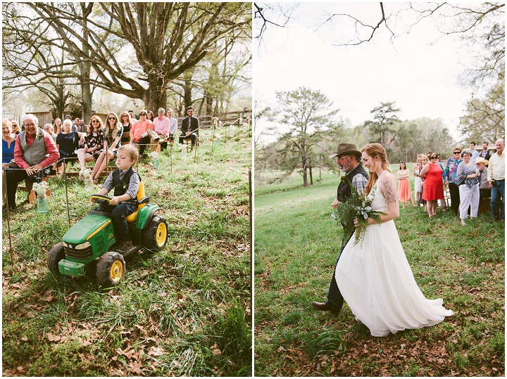Johanna and Chuck's Eclectic Outdoor Georgia Wedding by Heather Bode