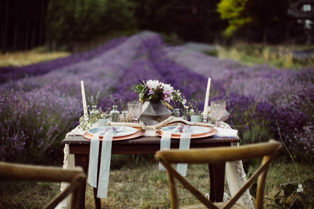 Whimsical Lavender Field Inspiration With Macramé And