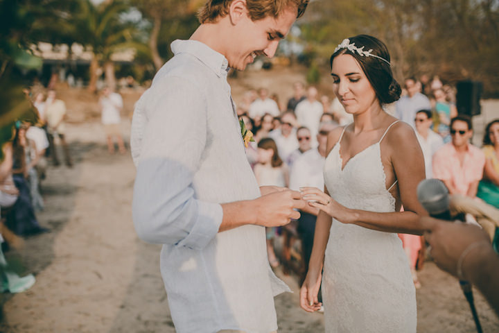 48f7f6e2d101 Carlos and Monica's Laid Back Costa Rica Beach Wedding by White Diamond  Photography ...