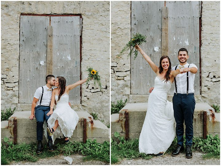 Jontue and Jonathan's Full of Fun and Sunflowers Ontario Wedding by Kingdom Photography