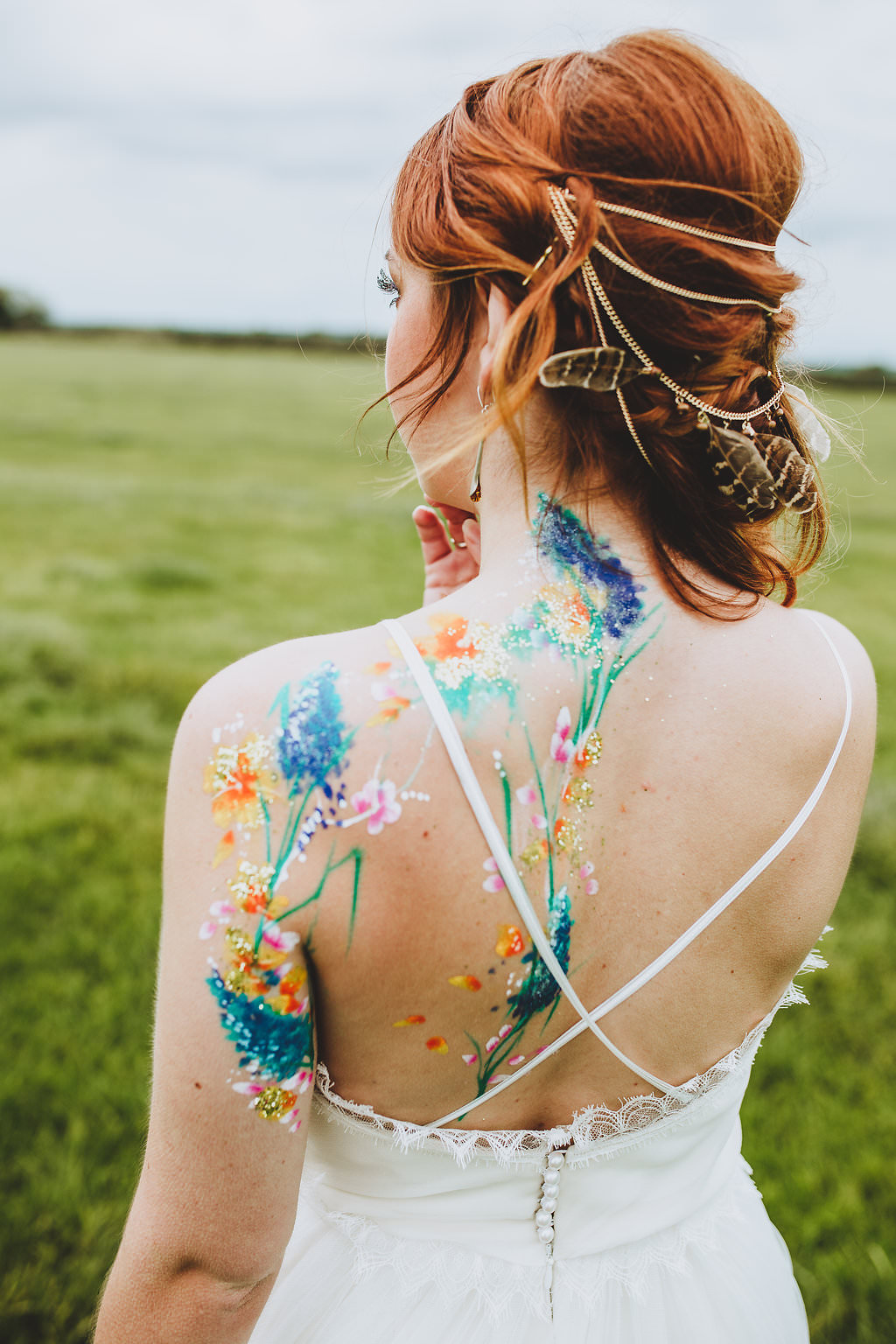 Bohemian Tipi Inspiration with Hippie Styling, Painted Tattoos and Tie-Dye