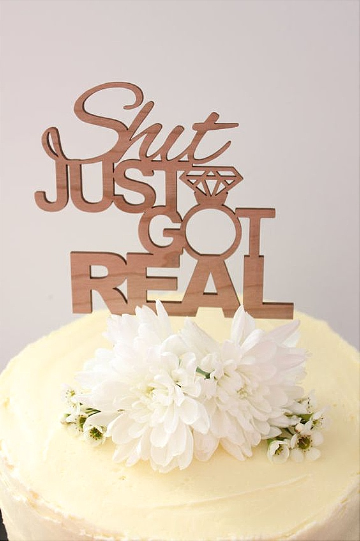 Image Source Love This There Are So Many Options These Days For Written Cake Toppers But Is One Of The Best Ones Ive Seen