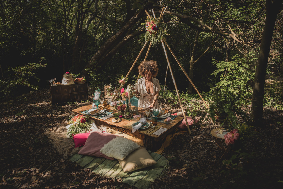 Rustic Bohemian Inspiration For a Free Spirited Woodland Wedding ...