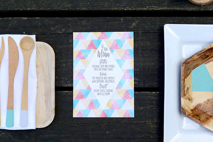 11Boho Geometric Woodland Wedding Inspiration by Sophie Bowdler Photography