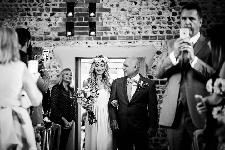 Lauren and Adam's Stylish Boho Inspired West Sussex Barn Wedding by Matt Parry