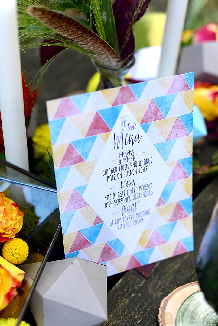 Boho Geometric Woodland Wedding Inspiration by Sophie Bowdler Photography