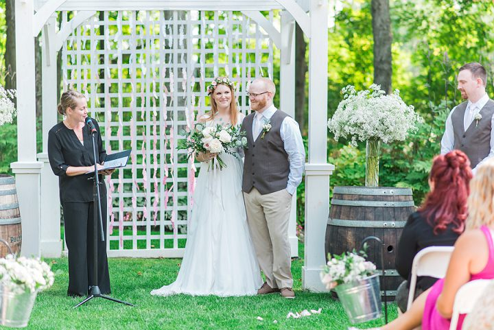 Amanda and Ron's Rustic Outdoor Handmade Canadian Wedding by Laura Kelly Photography