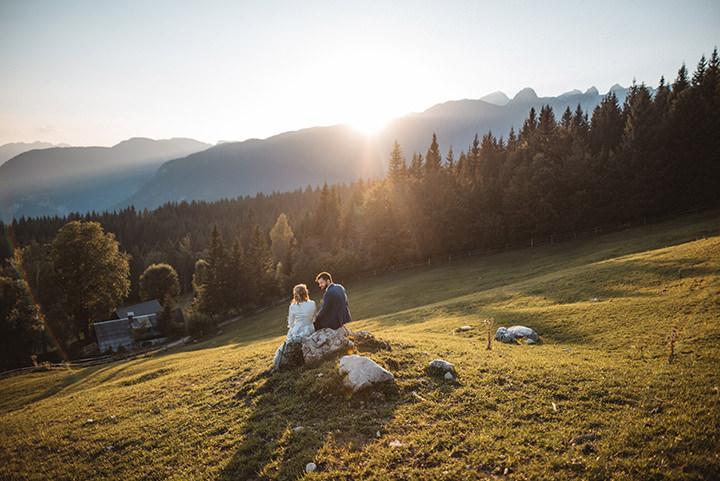 Meta and Albert's Nature Inspired Rustic Slovenian Wedding by Katja and Simon