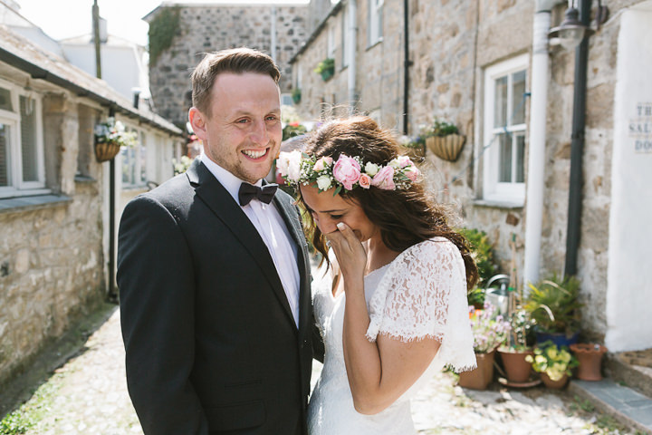 Rebecca and Walter's Beautiful Boho Cornwall Elopement by Debs Ivelja Photography
