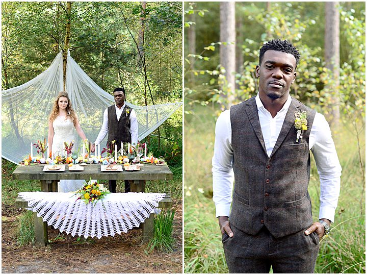 Boho Geometric Woodland Wedding Inspiration by Sophie Bowdler Photography