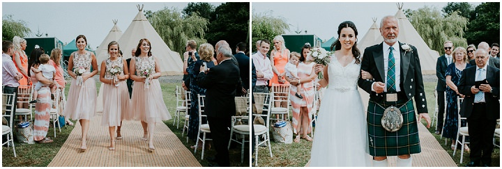 Murray and Fiona's Fun and Relaxed Outdoor Tipi Wedding by Olivia Marocco