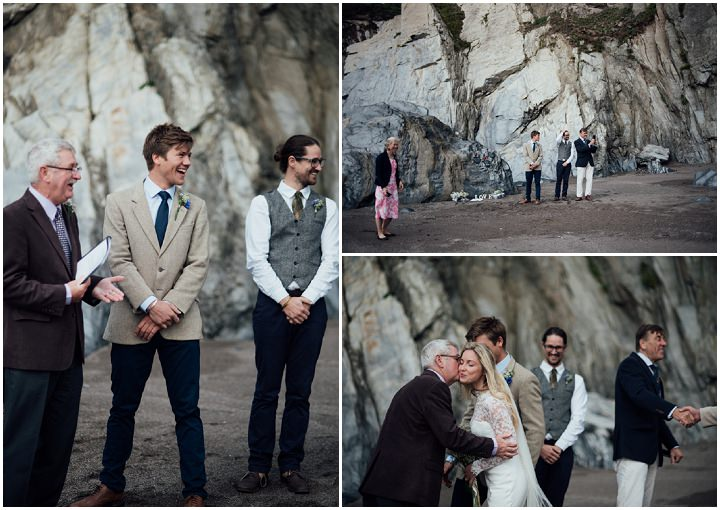 Angus and Davina's Intimate Devon Beach Wedding Planned in 3 Days! by Liberty Pearl Photography