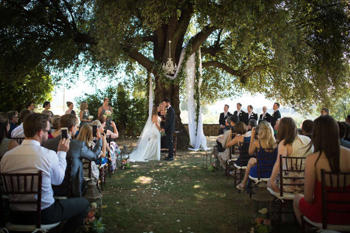 Laura and Blair's Beautifully Elegant Outdoor Tuscan Wedding by Nataly Montanari