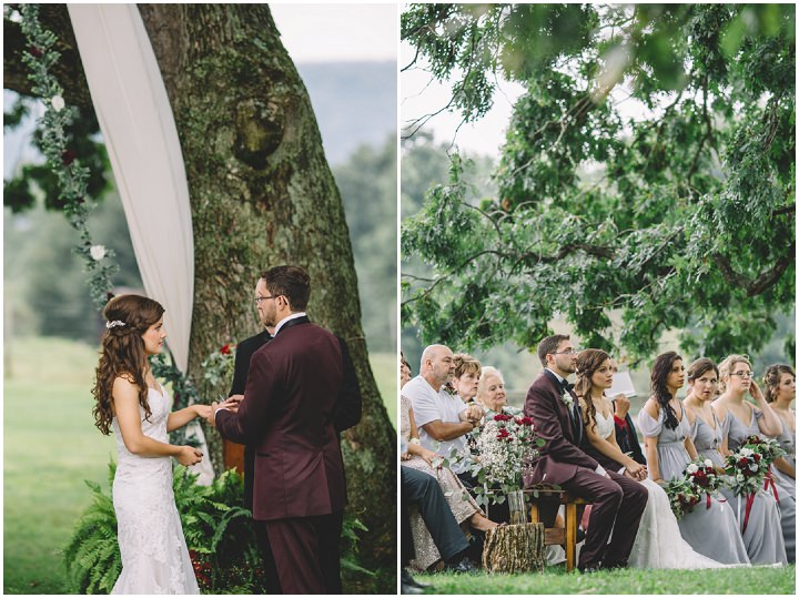 Alexis and Tyler's Earthy Bohemain Outdoor Pennsylvania Wedding by Oakwood Photography