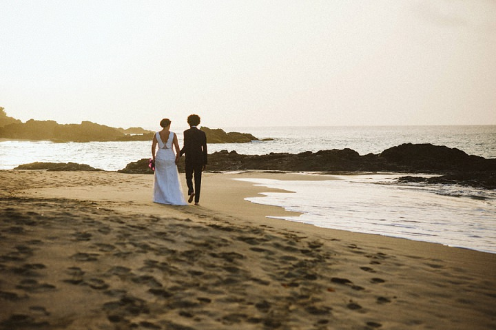 Jaime and Jason's Beautiful Beach Wedding in Tobago by Laura Babb