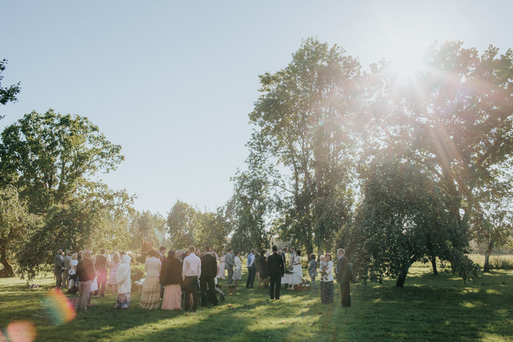 Marlis and Kristjan Rustic Burlap and Lace Wedding in Estonia by Gerry Sulp